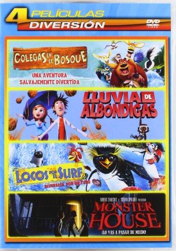 Lluvia De Albóndigas / Monster House/ Colegas En El Bosque / Locos Por El Surf - Qua [DVD]