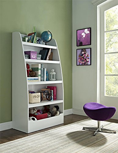 Ameriwood Home Hazel Kids' 4 Shelf Bookcase, White