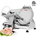 VIVOHOME 110V 320W 10 Inch Heavy Duty Stainless Steel Electric Meat Slicer Machine for Home and...