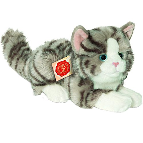 Hermann Teddy Collection - 906919 - Peluche - Chat Mensonge - 20 cm - Gris