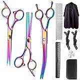 Best Hair Scissors - Professional Hair Cutting Scissors Set, 10Pcs Multicolor Haircut Review