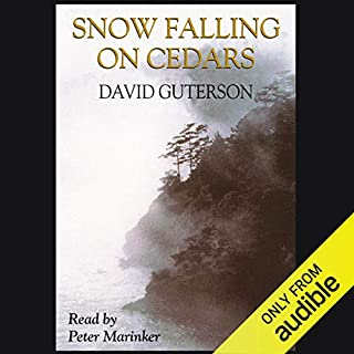 Snow Falling on Cedars                   By:                                                                                                                                 David Guterson                               Narrated by:                                                                                                                                 Peter Marinker                      Length: 14 hrs and 36 mins     55 ratings     Overall 4.1