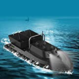 APROTII RC Boat,Fish Finder 1.5kg Loading 500m Fishing Bait Boat Low Battery Reminder