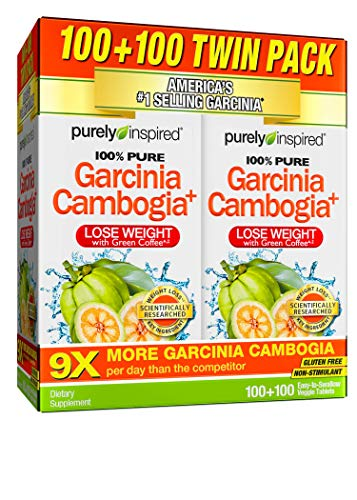 Garcinia Cambogia Weight Loss Pills for Women & Men | Purely Inspired 100% Pure Garcinia Cambogia | Featuring Apple Cider Vinegar | Weight Loss Supplement Pills | Weight Loss Products | 200 Pills