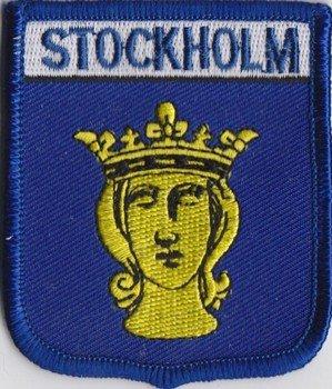 Bestickter Aufnäher mit Schweden/Stockholm-Flagge (A370)