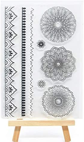 Welcome to Joyful Home Trust Max 42% OFF 1pc Flower Clear Line Rubber Stam Pattern