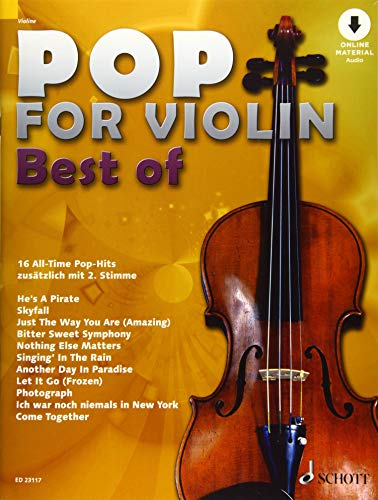 Pop for Violin - Best of: 16 All-Time Pop-Hits. 1-2 Violinen. Ausgabe mit Online-Audiodatei.