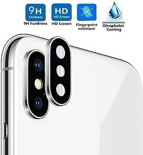 REY Protector de Pantalla 3D para Cámara Trasera de iPhone X - iPhone XS - iPhone XS MAX Plata Cristal Vidrio Templado Premium 3D / 4D / 5D