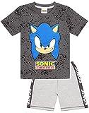 Sonic The Hedgehog Pijamas Niños Personajes Jamer Camisa Bermudas PJS Set 5-6 años