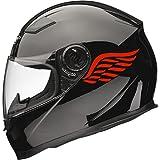 Xaevon Calcomanías Adhesivas para Casco de Moto Angel Wings (par), 80 mm x 40 mm, Color Rojo