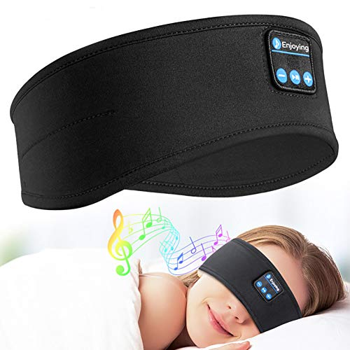 Sleep Headphones Bluetooth Headband - Upgrade Soft Noise-Canceling Headphones for Sleeping, Sports Headbands with Ultra-Thin HiFi Stereo Speakers - Long Time Play Sleep Earbuds for Sleeping, Workout