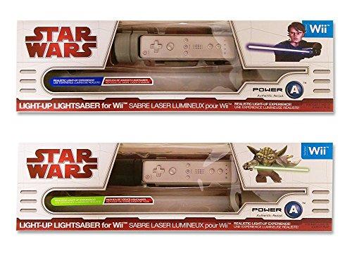 Wii Star Wars Lichtschwert Doppelpack - Lightsaber Yoda und Anakin