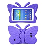 Tading Kids Case for Samsung Galaxy Tab 4/3/3 Lite 7.0 inch Tablet, Lightweight Shockproof EVA Foam Super Protection Stand Cover for SM T230 P3200 T110 (Not Fit Samsung Galaxy Tab 3/4 10.1') – Purple