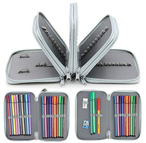 72 slot, design a 4 strati, Oxford, astuccio per matite, matite colorate, acquerelli e matite colorate