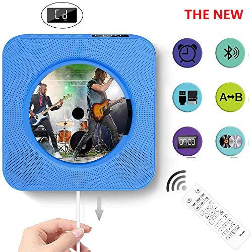 ZRZJBX Reproductor CD,Altavoz HiFi Incorporado, Reproductor de CD de música MP3 USB con Bluetooth con Radio FM de Audio para el hogar, Conector AUX de 3,5 mm, Regalo para la Familia,Blue