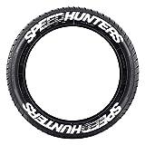 LOVOICE Speed Hunters Adesivo per Pneumatici Adesivi con Lettere Modificate per Auto E Moto Nuovo Stile Monopezzo