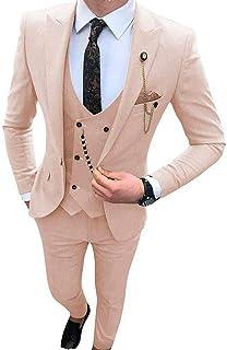 Men's One Button Prom Suits Regular Fit Notch Lapel Blazer Pants Formal Suits Wedding Suits for Men