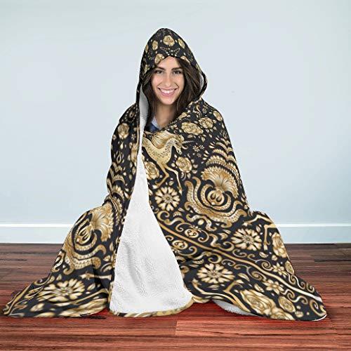 ANVPI ThemeWearable Hooded Blanket Ultra zacht en warm microvezel plafond winter TV capuchon werp wrap- voor volwassenen