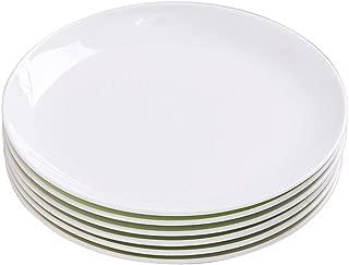 TGLBT 10-Inch Porcelain Dinner Plates Set/Serving Platters,salad service,White, 6-Piece