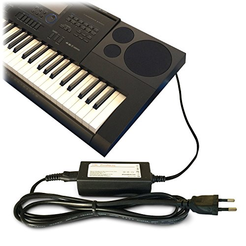 ABC Products® Ersatz Casio AC / DC Netzteil, Netzadapter, Netzanschluss 12V / 12 Volt (AD-A12150LW, AD-A12150) für passend zu Casio Keyboards / Digital Piano / Synthesizers (Modelle unten angegeben)