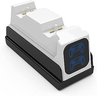 heyaa PS5 cabo carregador rápido de contato com carregador de dois assentos cabo carregador de jogos acessórios de base de...