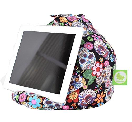 Bean Lazy iPad, eReader & Book Mini Bean Bag Fits All tablets and eReaders - Mexican Calavera Skull