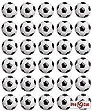 35 x Pre Cut Fußball Kuchen, Cupcake Topper/Dekoration Essbar Wafer Papier
