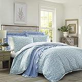 Laura Ashley | Jayne-Kollektion | Luxuriöser, ultraweicher Bettbezug, leicht, bequem, 3-teiliges Bettwäsche-Set, stilvolles Design für Heimdekoration, Full/Queen, Wintergrün