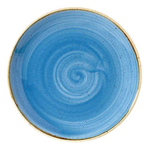 Churchill Stonecast Round Coupe Plate Cornflower Blue 165mm (Pack of 12) - [DF767]