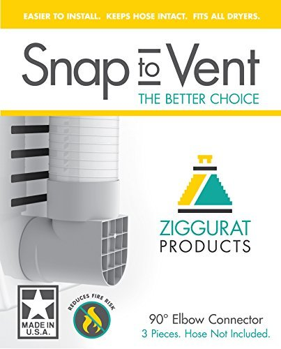 Snap to Vent 90 degree elbow by Ziggurat Products