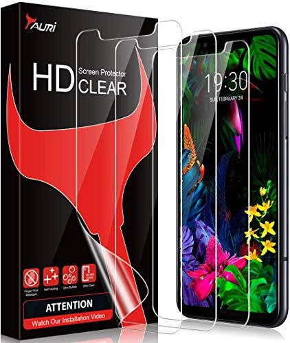 TAURI [3 Stück Schutzfolie für LG G8s ThinQ, G8s ThinQ Bildschirmschutzfolie [Fingerabdruck-ID unterstützen] [Blasenfreie] [Klar HD] Weich TPU Folie