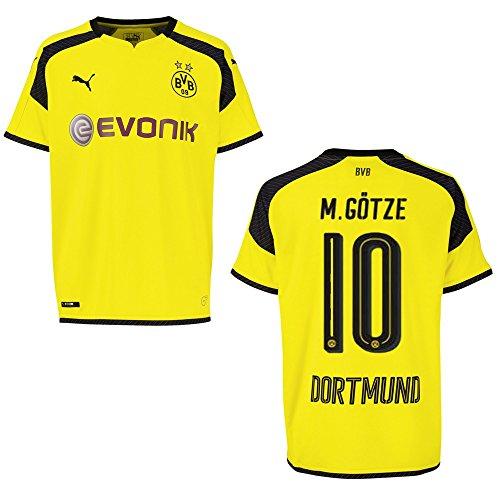 PUMA BVB Borussia Dortmund Trikot 3rd Herren 2016/2017 - M.GÖTZE 10, Größe:L
