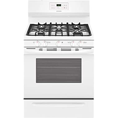 Frigidaire FFGF3054T 30 Inch Wide 5.0 Cu. Ft. Capacity Free Standing Natural Gas, White
