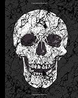 Planner: Best Goal Planner, White Distreesed Skull Design Monthly/Weekly/Daily organizer for Men. With New Year resolution list, shopping tracker, Books-to-read list, budgeting,  motivational quotes