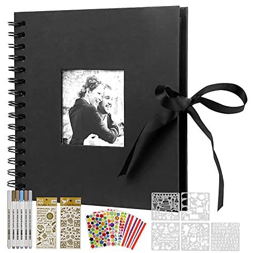 KLKIT Fotoalbum zum selber gestalten, DIY Fotobuch mit 60 Seiten, geeignet als Abschlussgeschenk, Geburtstagsgeschenk, Hochzeitsgeschenk, Valentinstagsgeschenk und mehr