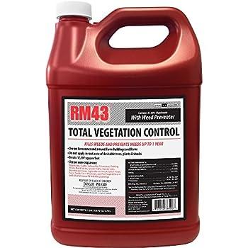 RM43 43-Percent Glyphosate Plus Weed Preventer Total Vegetation Control 1-Gallon