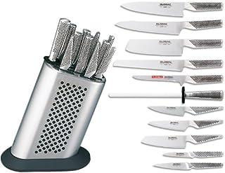 Global MB-15 Messerblock mit 10 Messern und Schleifstab
