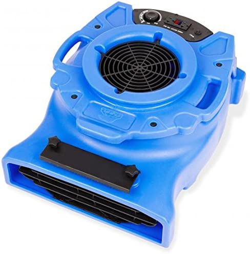B-Air VENTLO-25 1/4 HP Low Profile Air Mover Carpet Dryer Floor Fan for Home Retail Plumbing Water Damage Restoration...