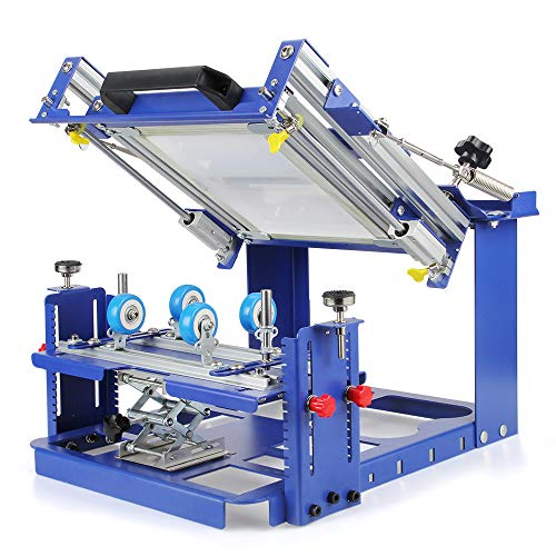 Anbull Screen Printing Press,Printing Perimeter Silk Screen Printing Machine for Cylinder Printing Maximum Printing Diameter 80mm for Various Cylindrical & Conical Products Printing
