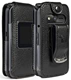 eTALK Phone Case, Nakedcellphone [Black Vegan Leather]