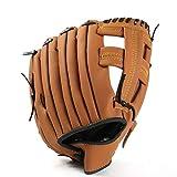 Wansson 野球 グローブ 軟式 グローブ 一般用 オールラウド 内野手 右投げ キャッチボール 初心者 多色選び 子供 少年 大人用 10.5 11.5 12.5 インチ 衝撃吸収パッド 内蔵 室内 (ブラウン, 10.5'')