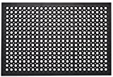 Heavy Duty Rubber Floor Mat - Designed to be tough and durable with drainage holes for water, snow, salt, and slush, this well-built rubber mat can be used as a restaurant mat, kitchen mat, safety mat, gym mat and even a bar mat; the best thing about...