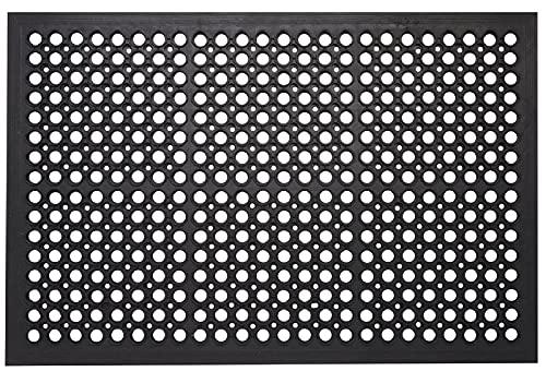 Envelor Anti Fatigue Rubber Floor Mat Restaurant Kitchen Drainage Mat Rubber Door Mat Durable Non-Slip Bar Mat Utility Floor Mat Indoor Outdoor Wet Area Door Mat 36 x 60 Inches