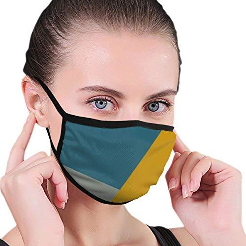 SundriesShop Kreide Teal Senf Gesichtsmaske Männer Damen Kinder Teens Print Bequeme waschbare Wiederverwendbare Nase - Abdeckung für Cosplay