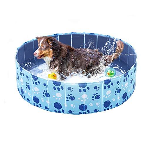 Wdmiya Piscina para Perros, Piscina Infantil para Niños, Bañera Plegable para Mascotas, Piscina al Aire Libre para Jardín y Patio (120cm X 30cm)