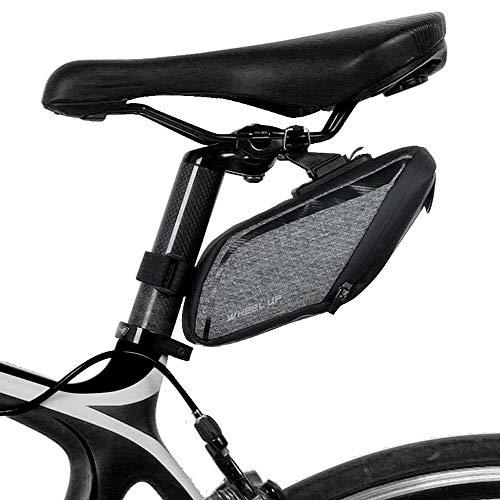 HKYMBM Bike Saddle Bag À Vélo Stockage Pack Siège Pouch avec Cintre Et Feu Arrière Réfléchissant Stripe pour Vous Garder Sûr