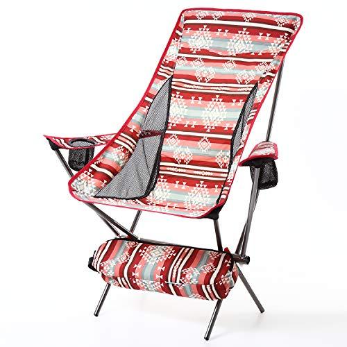 アウトドアチェア コンパクトチェア 軽量チェア アウトドア 軽量 折りたたみ椅子 耐過重150kg キャンプ用品 1.7kg キャンプ 釣り 椅子 イス レジャー 運動会 チェア 折り畳み椅子 グランピング おしゃれ ナバホ 折りたたみ (レッド/ナバホ)