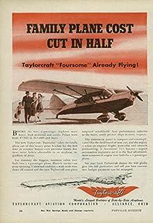 Family Plane Cost Cut in Half Taylorcraft Private Plane ad 1945