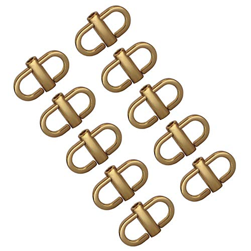 Model Worker 10PCS Adjustable Metal Buckles for Chain Strap Bag, Chain Links Tiny Clip for Bag Chain Length Accessories (Gold)