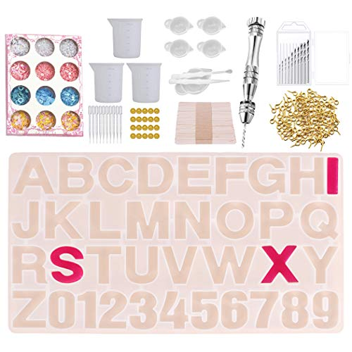 Outgeek Jewelry Casting Mold Set Creative DIY Assorted Silicone Casting Mold & Tool Set